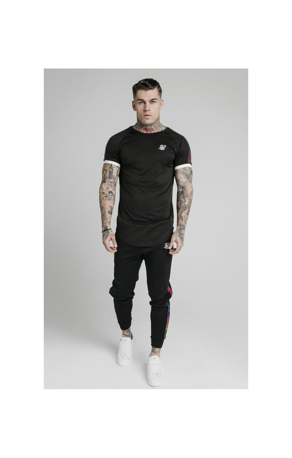 SikSilk S/S Fade Runner Tech Tee - Black (3)