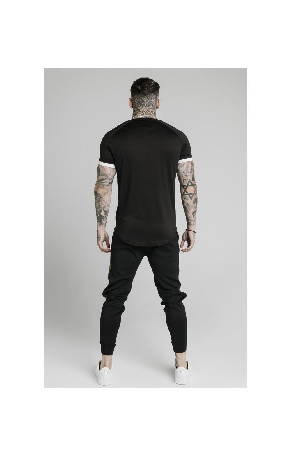 SikSilk S/S Fade Runner Tech Tee - Black (4)