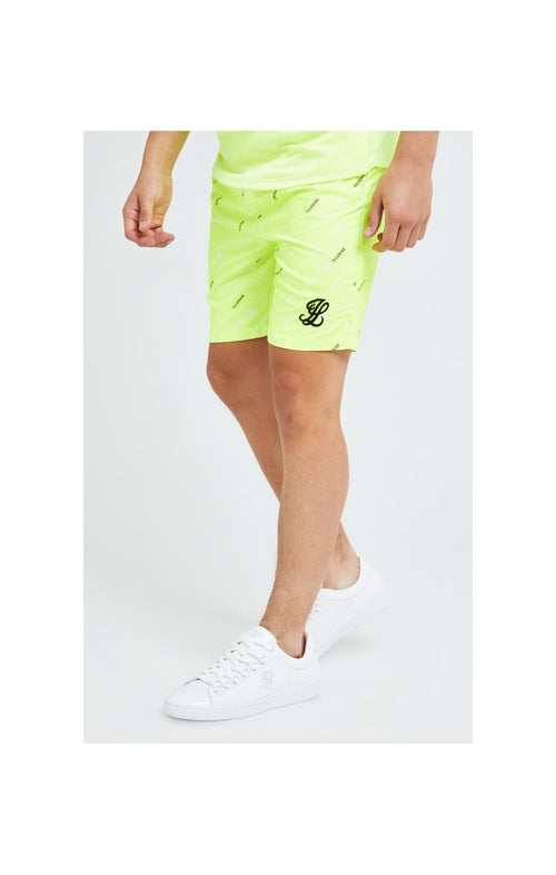 Illusive London AOP Swim Shorts - Neon Yellow