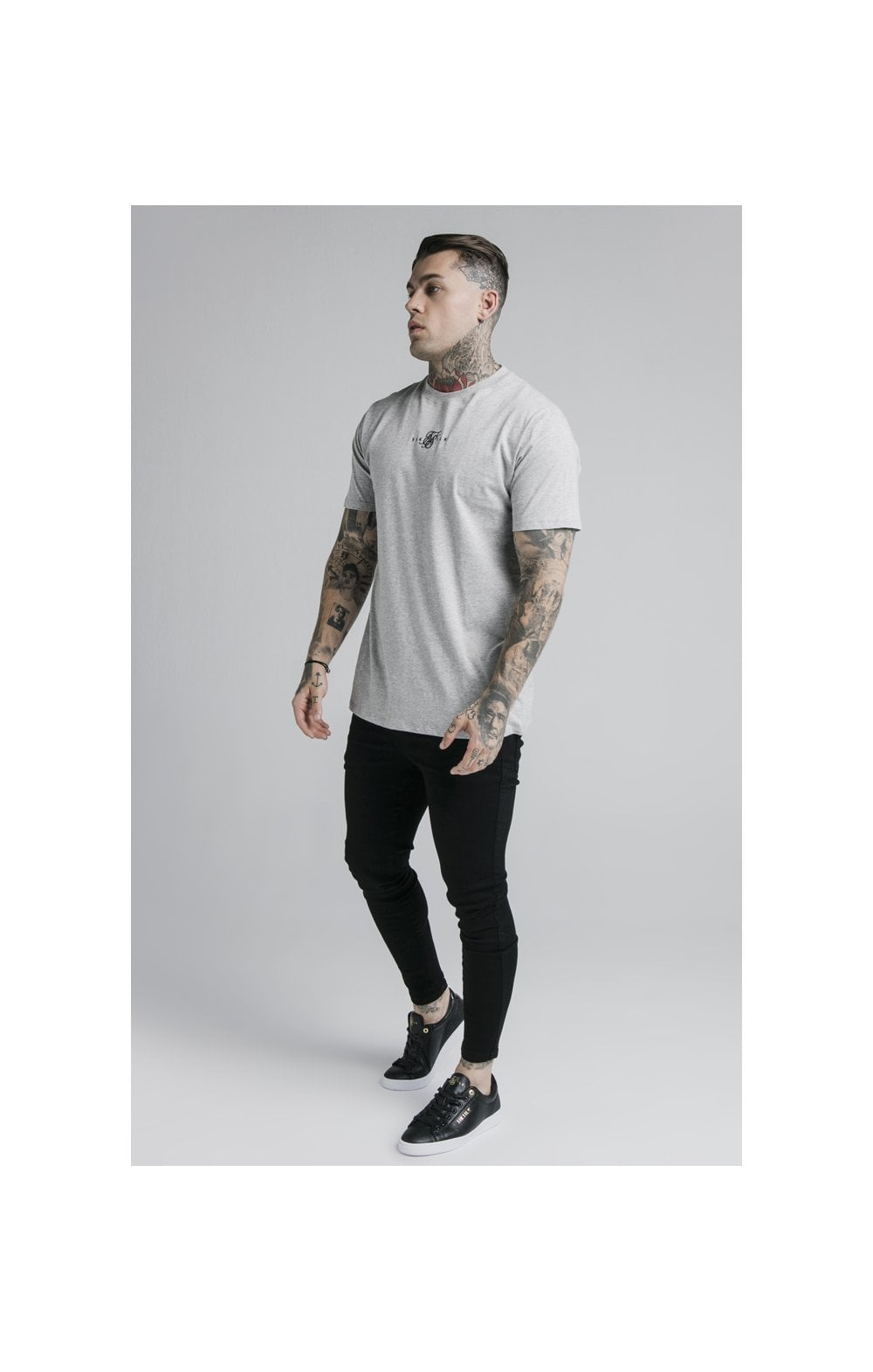 SikSilk S/S Basic Core Tee – Grey Marl (4)