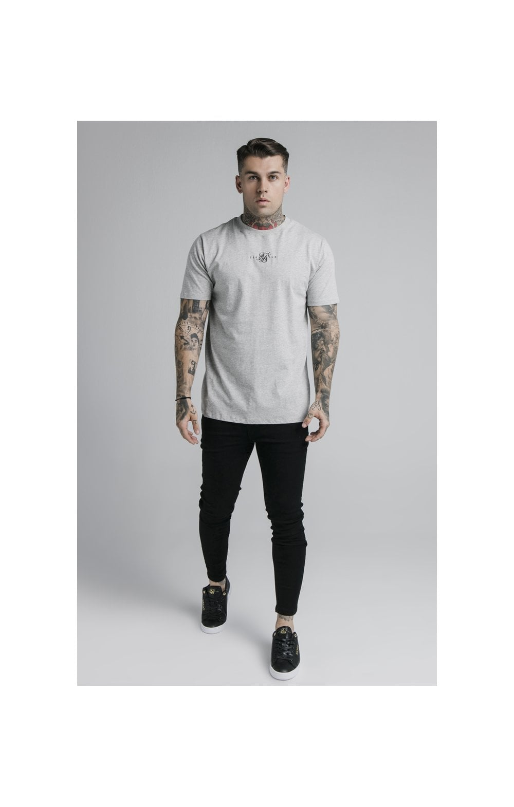 SikSilk S/S Basic Core Tee – Grey Marl (5)