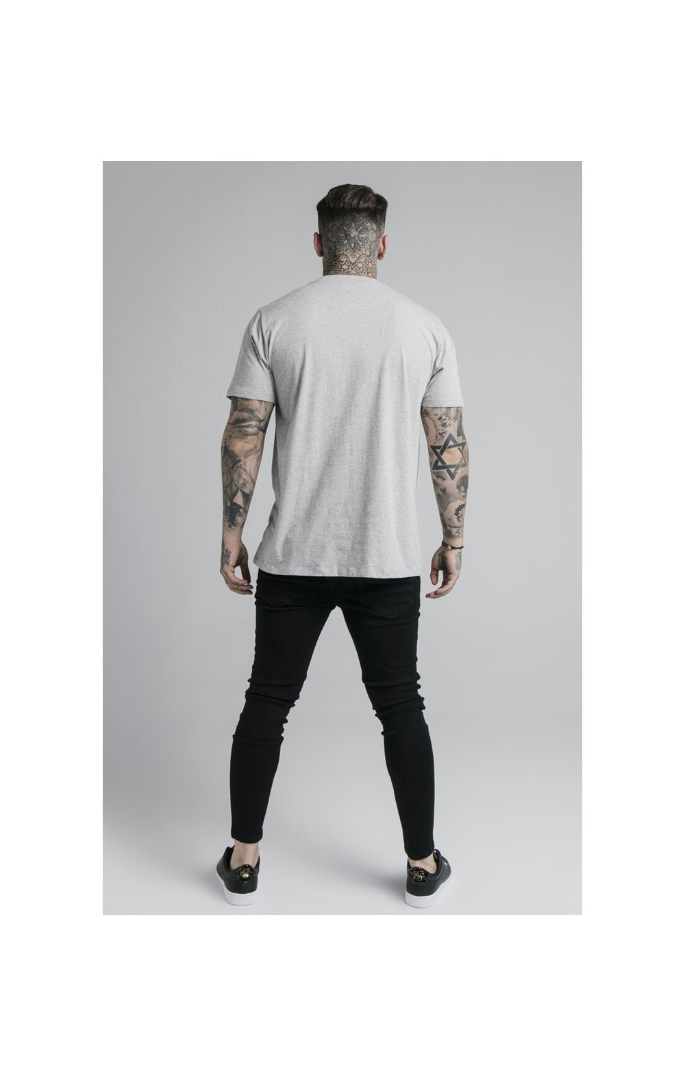 SikSilk S/S Basic Core Tee – Grey Marl (6)