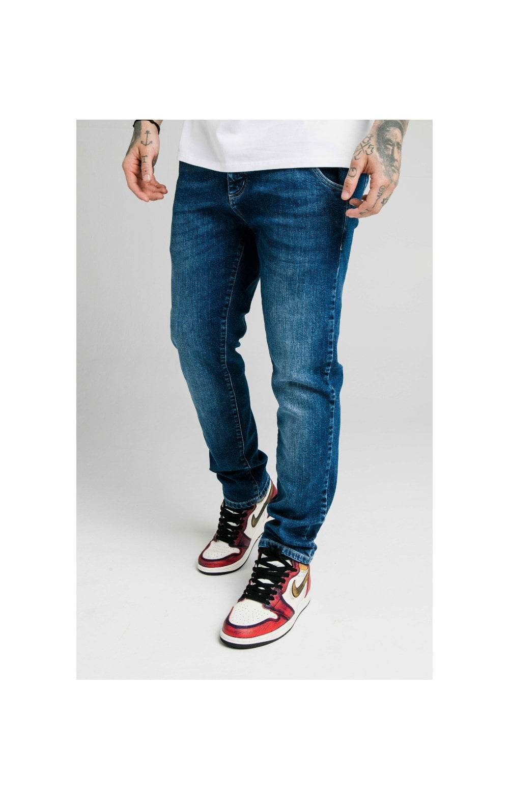 SikSilk Straight Cut Recycled Denim - Midstone