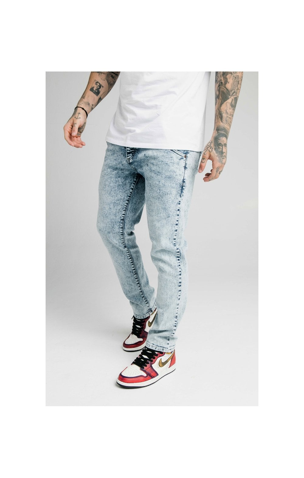 SikSilk Straight Cut Recycled Denim - Light Blue