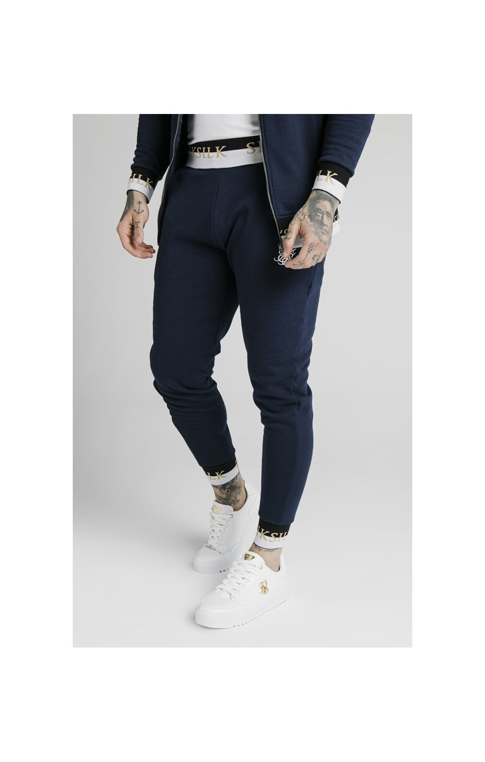 SikSilk Deluxe Fitted Jogger - Navy