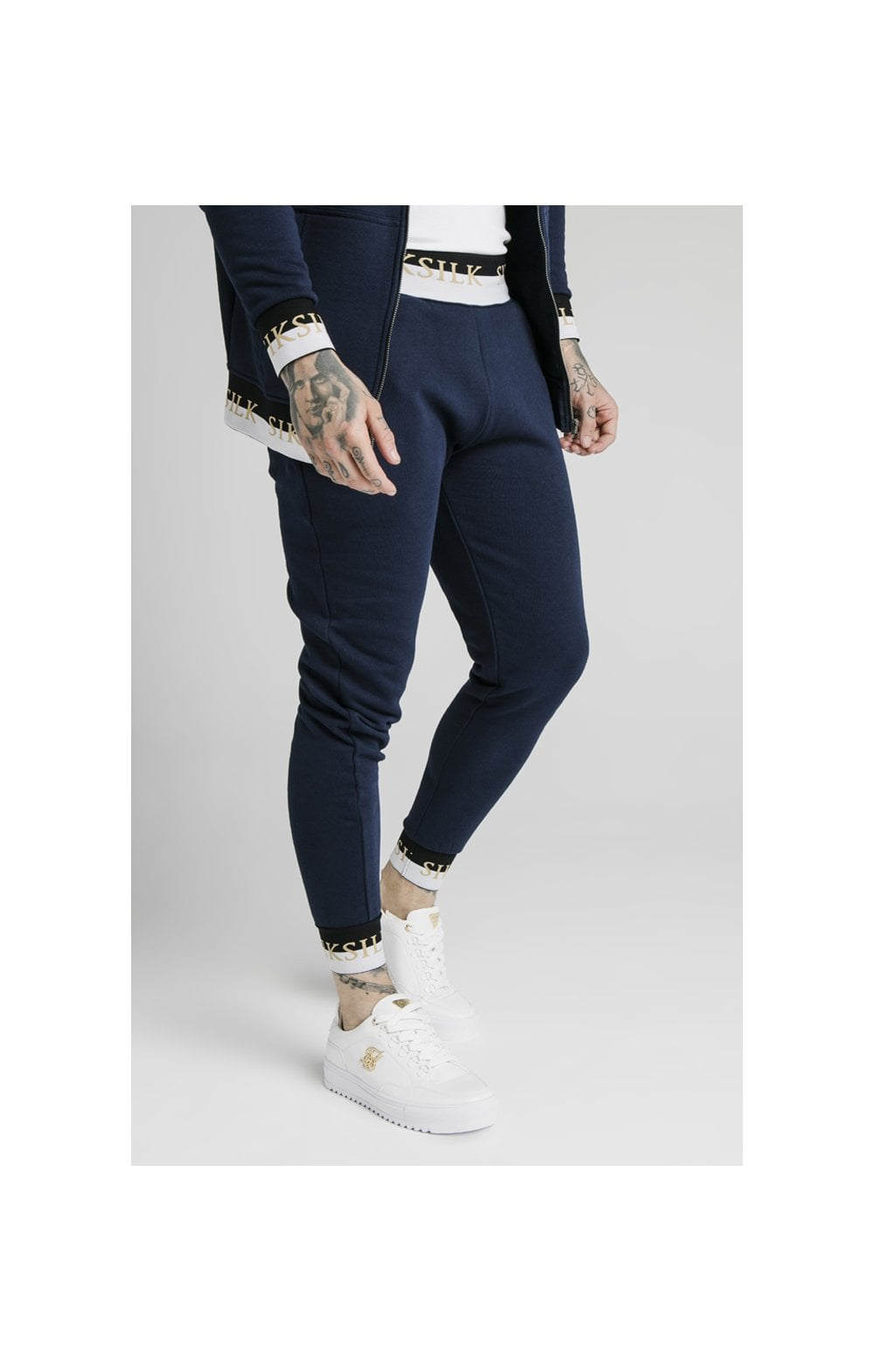 SikSilk Deluxe Fitted Jogger - Navy (2)