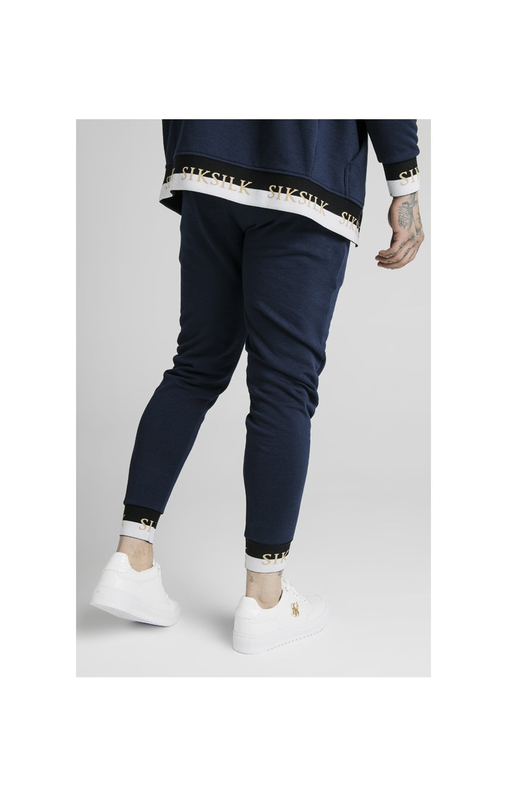 SikSilk Deluxe Fitted Jogger - Navy (5)