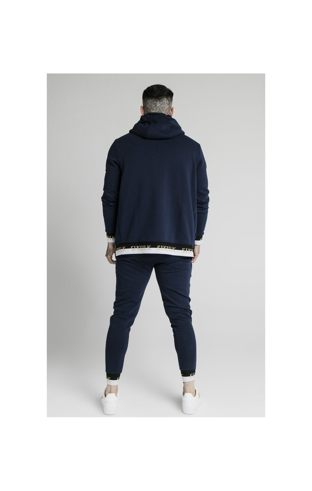 SikSilk Deluxe Fitted Jogger - Navy (6)