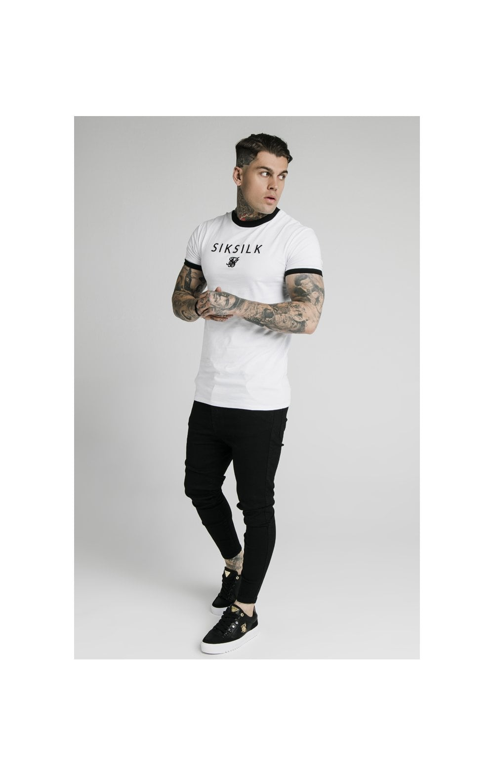 Charger l'image dans la galerie, SikSilk S/S Straight Hem Gym Tee - White (3)