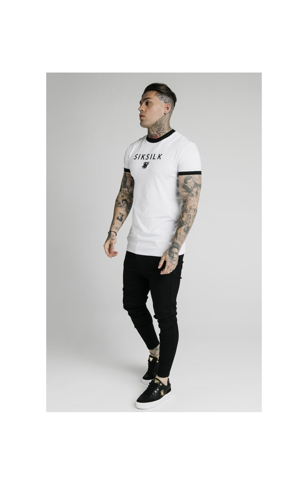 Charger l'image dans la galerie, SikSilk S/S Straight Hem Gym Tee - White (4)