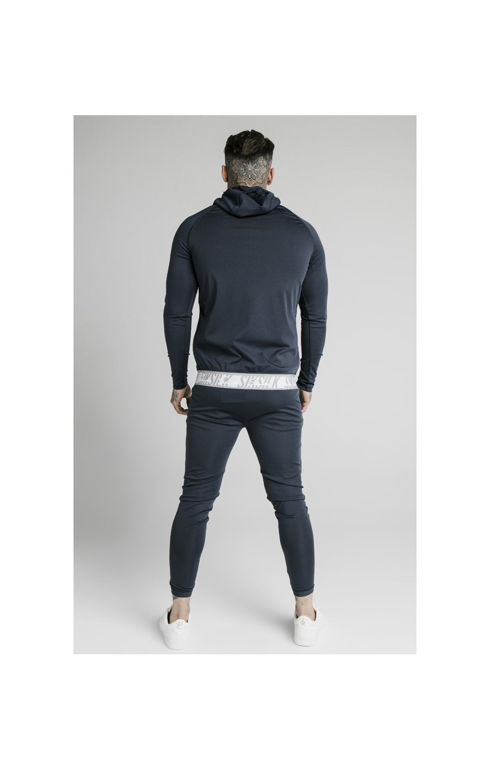 SikSilk Scope Tape Zip Through Hoodie – Navy (5)