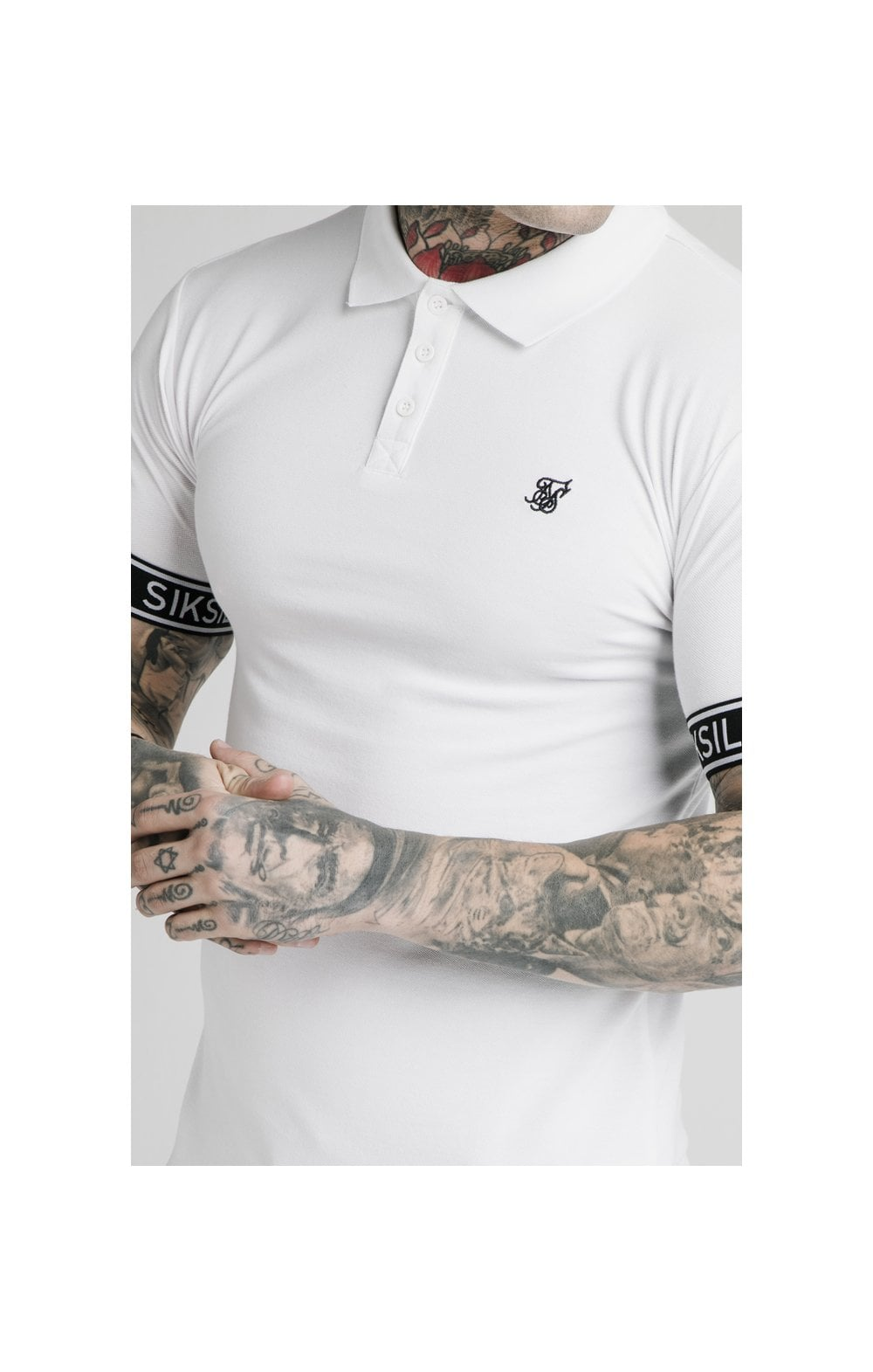 SikSilk S/S Tech Polo Tee - White