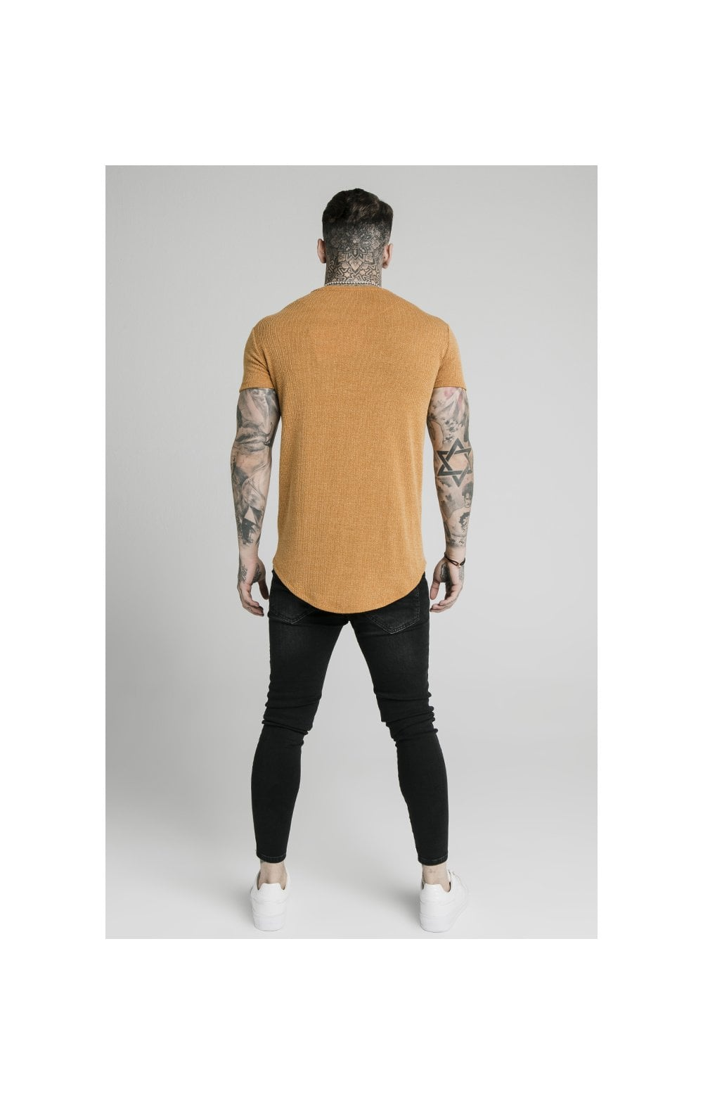 Charger l'image dans la galerie, SikSilk Rib Knit Gym Tee - Yellow (5)