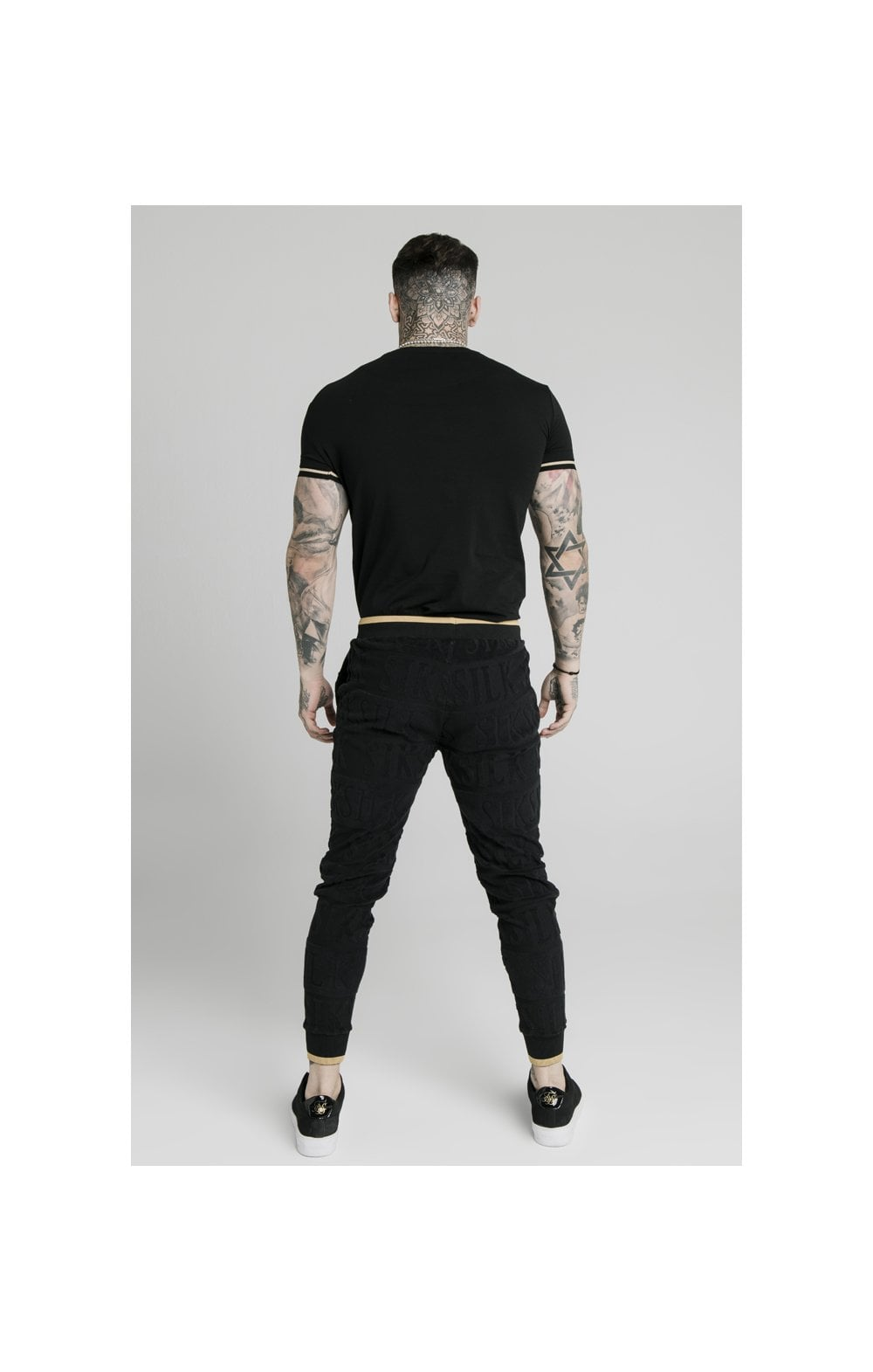 SikSilk Signature Tee - Black & Gold (5)