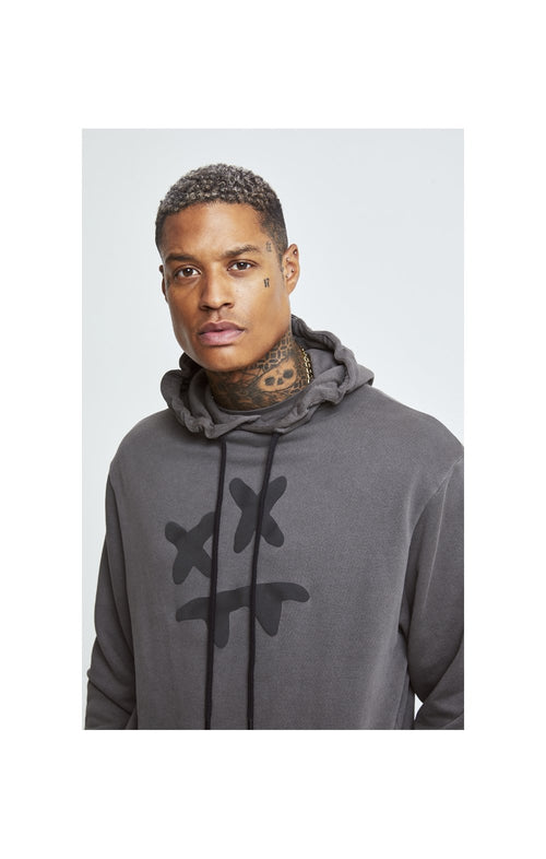 SikSilk X Steve Aoki Overhead Hoodie - Washed Grey