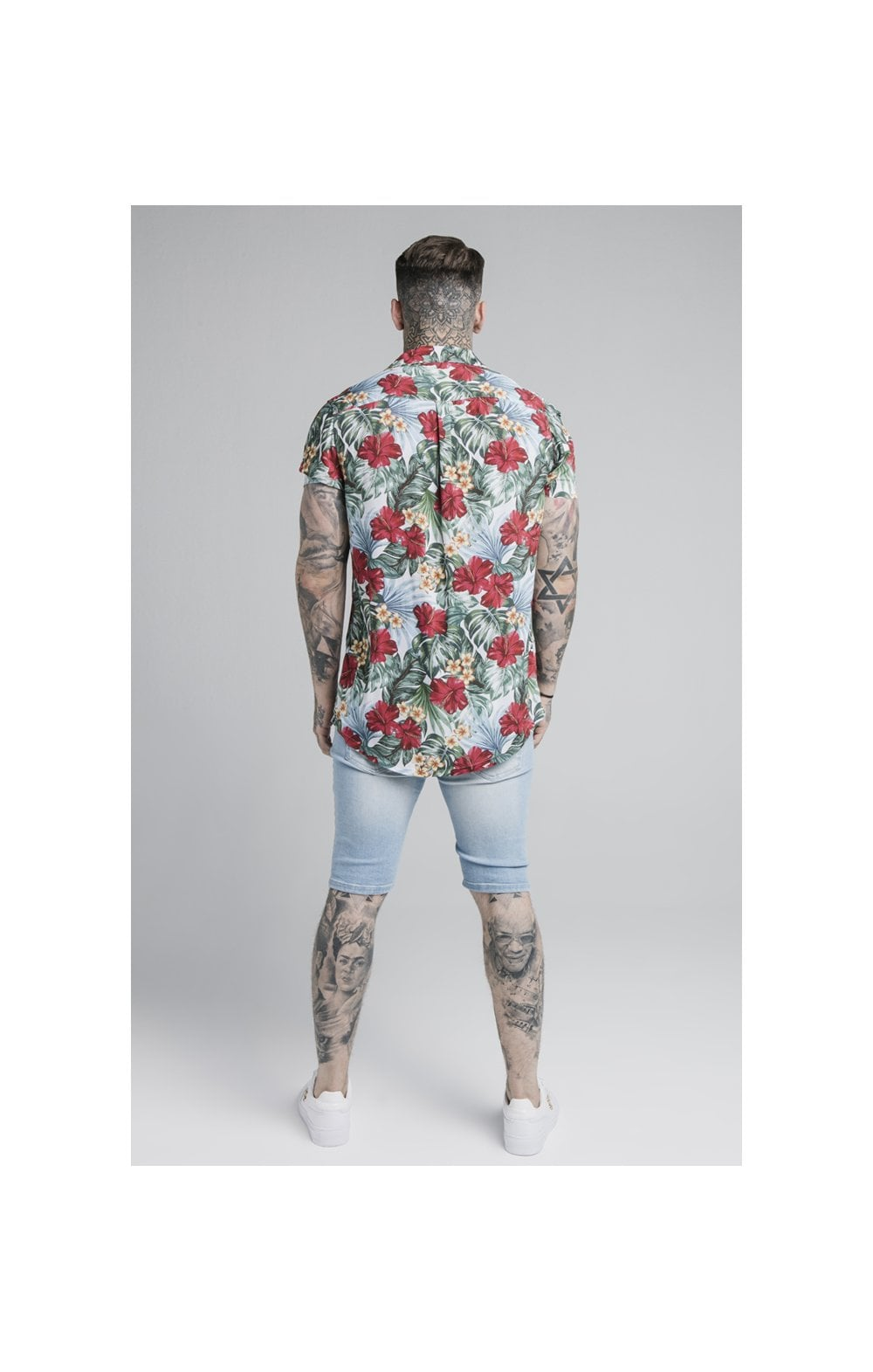 SikSilk 70's Floral Resort Shirt – White (5)