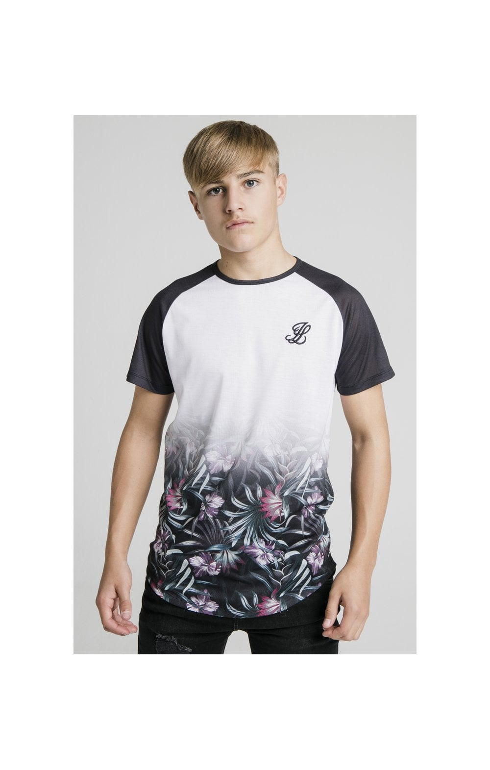 Illusive London Tropical Fade Tee - Navy & White