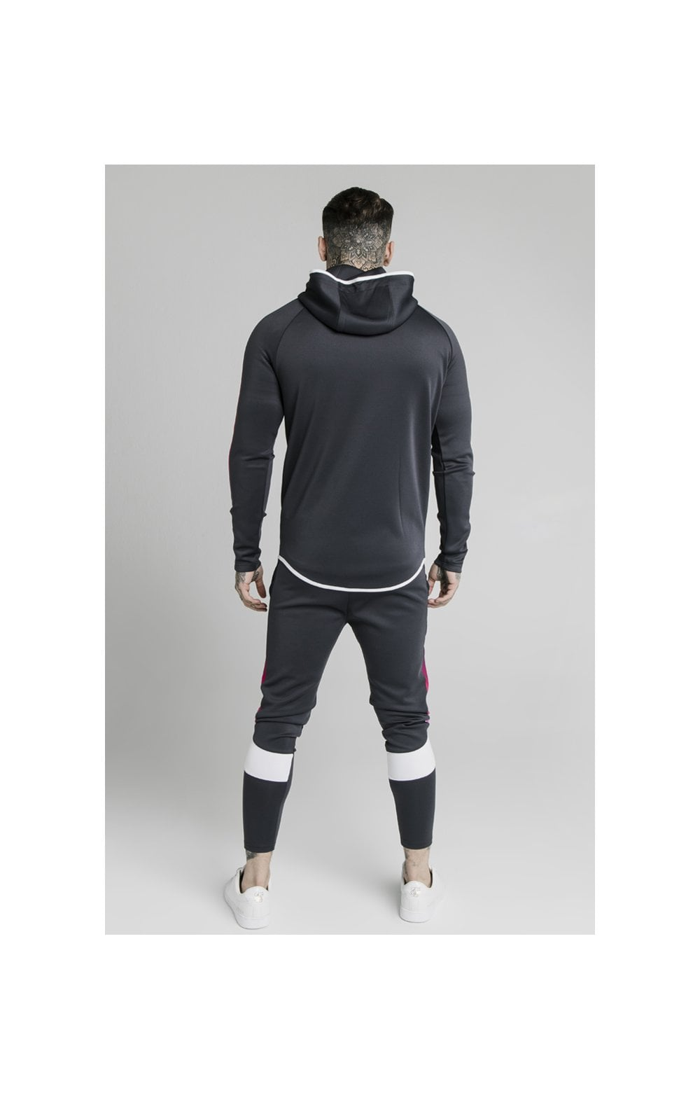 SikSilk Advanced Tech Zip Through Hoodie - Midnight Grey (4)