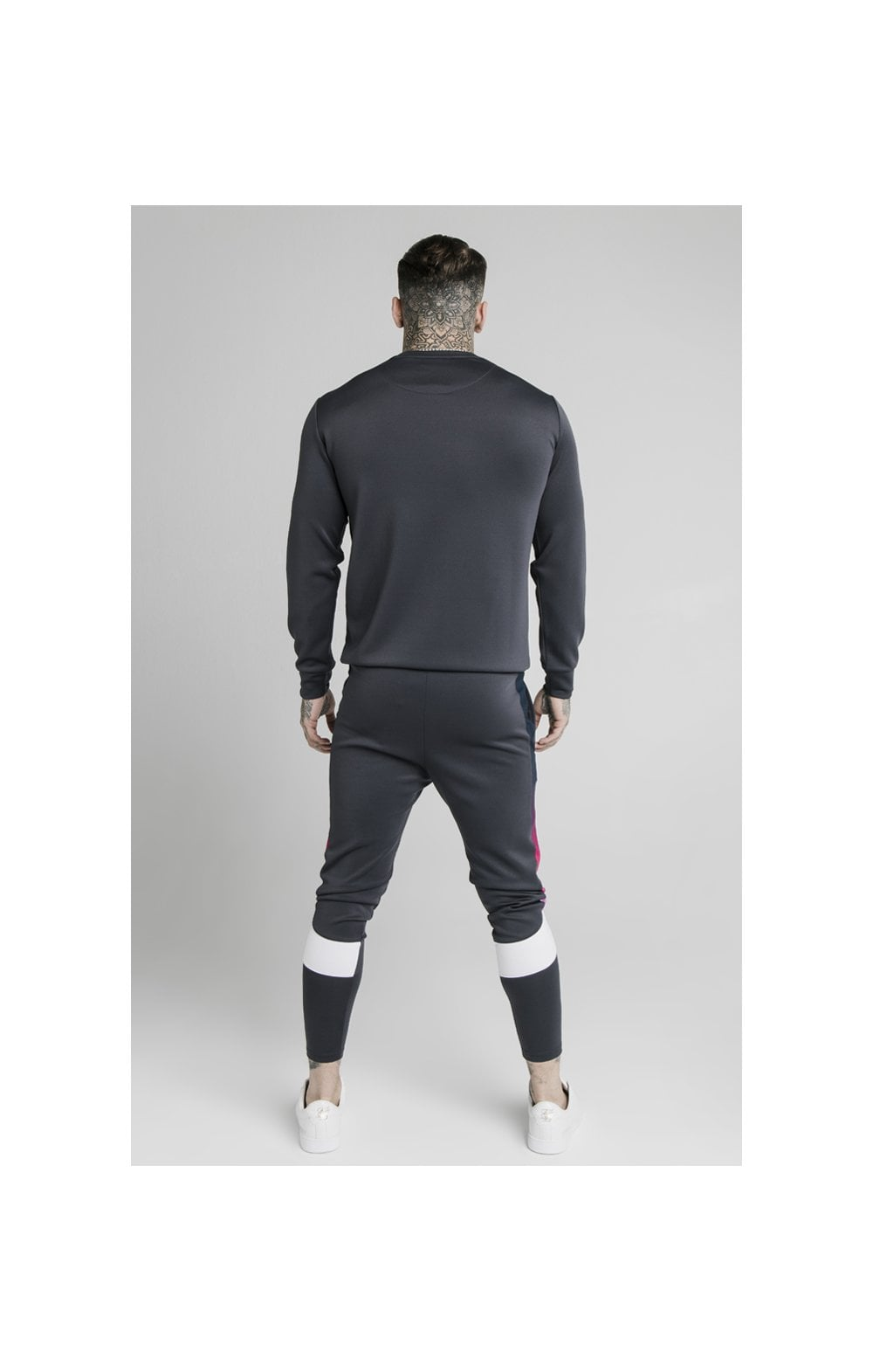 SikSilk Tri-Fade Panel Crew Swat - Midnight Grey (4)