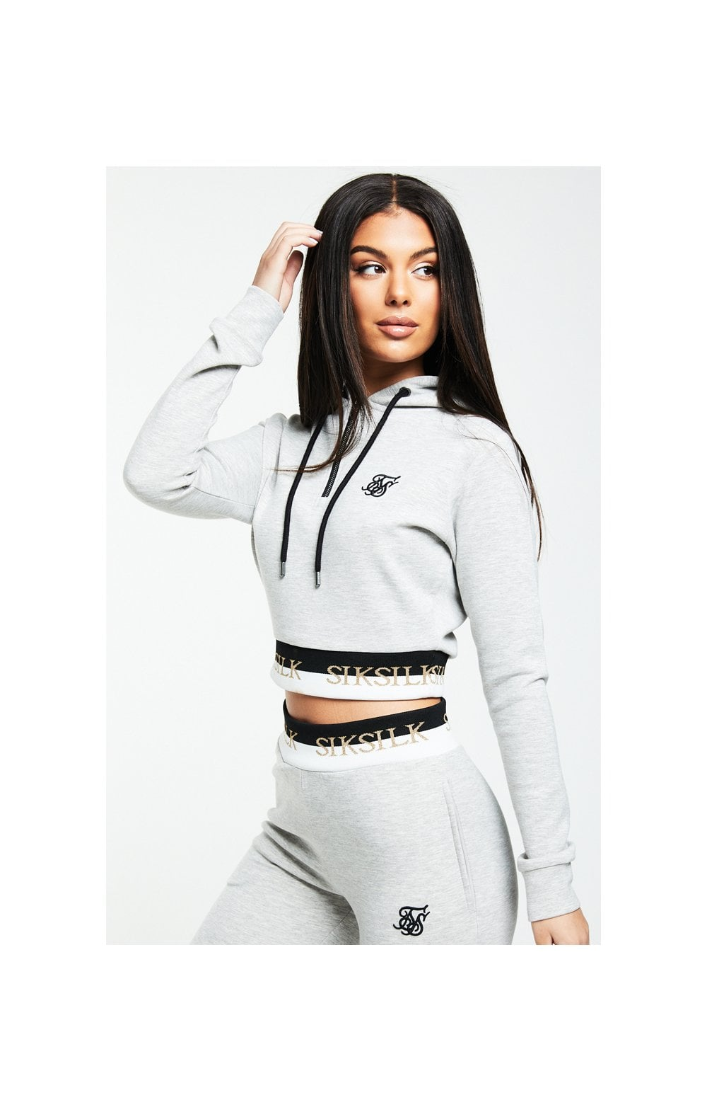 SikSilk Deluxe Track Top - Grey Marl