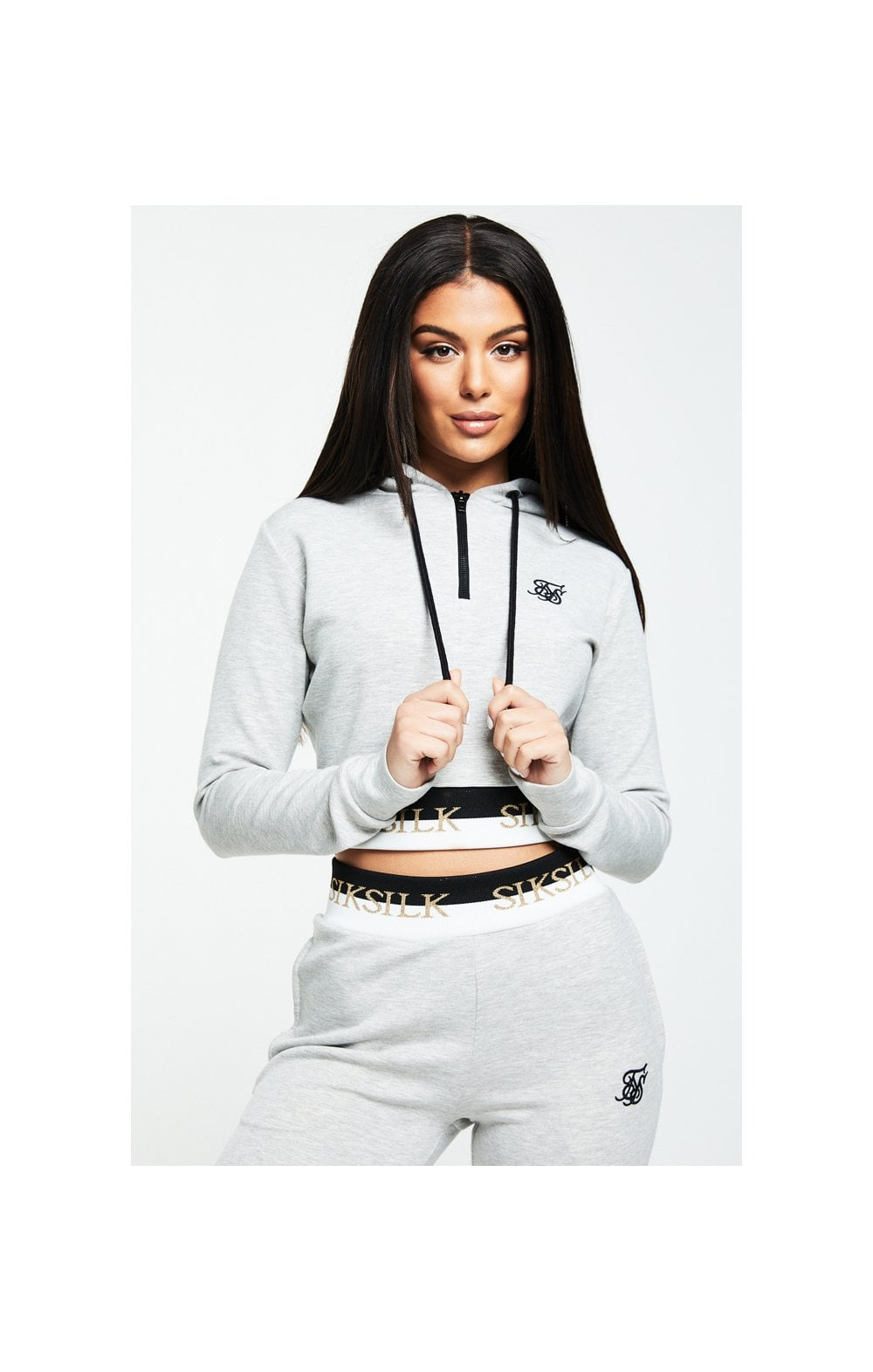SikSilk Deluxe Track Top - Grey Marl (1)