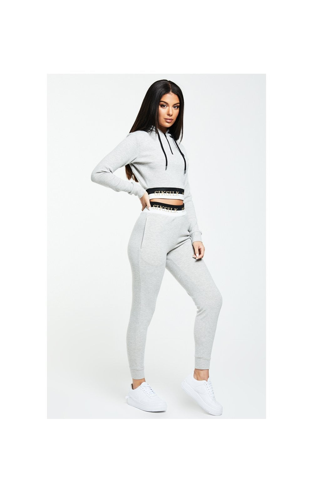 SikSilk Deluxe Track Top - Grey Marl (2)