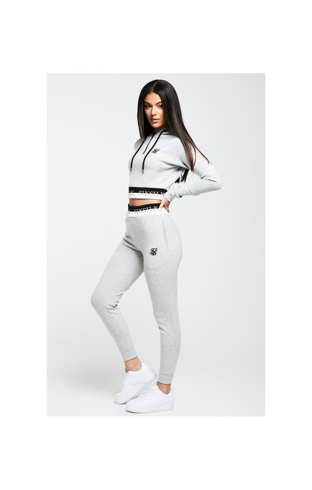 SikSilk Deluxe Track Top - Grey Marl (3)