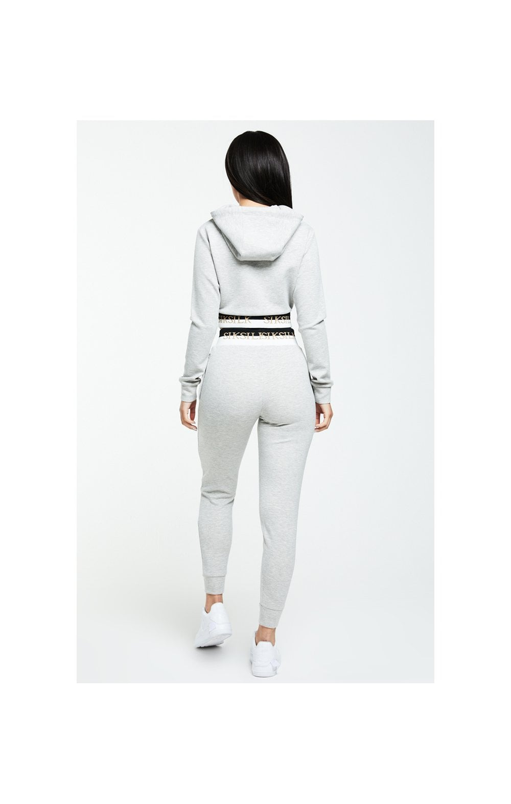 SikSilk Deluxe Track Top - Grey Marl (6)