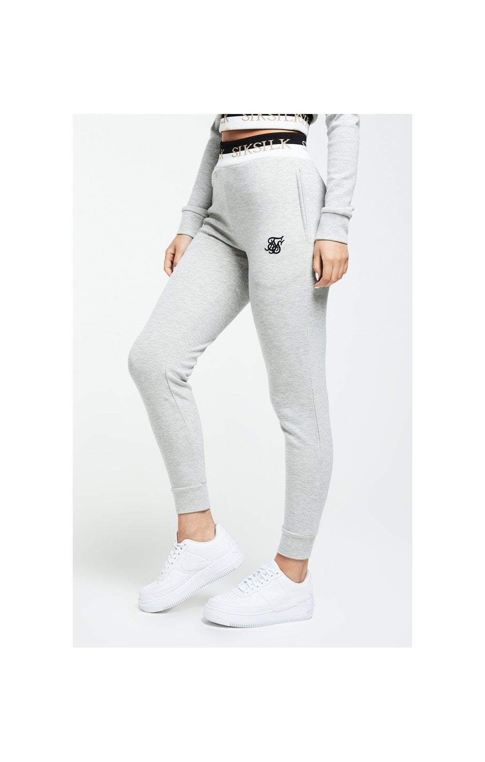 SikSilk Deluxe Track Pants - Grey Marl (3)
