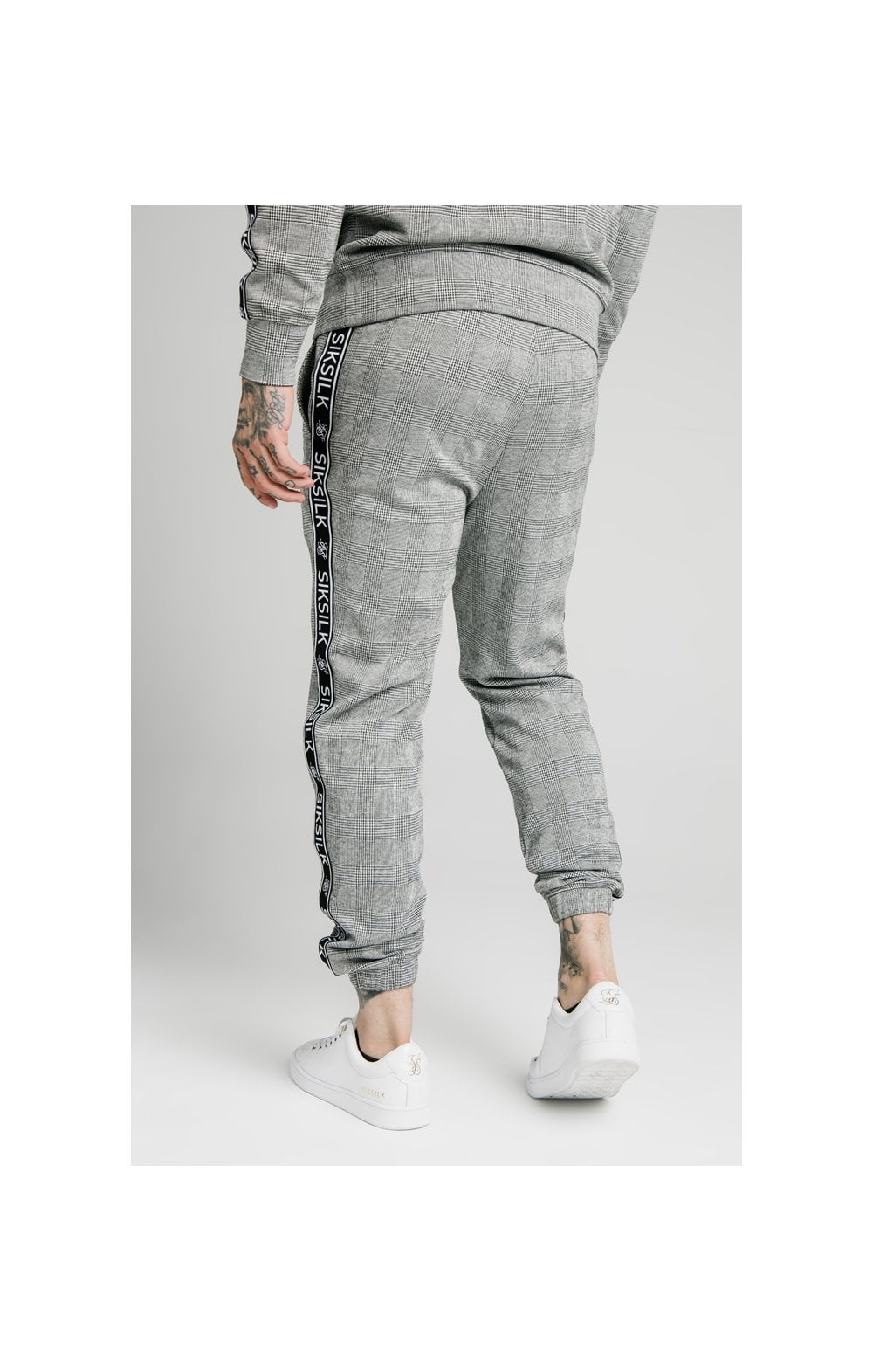 SikSilk Dog Tooth Check Chuffed Pant - Black & White (1)