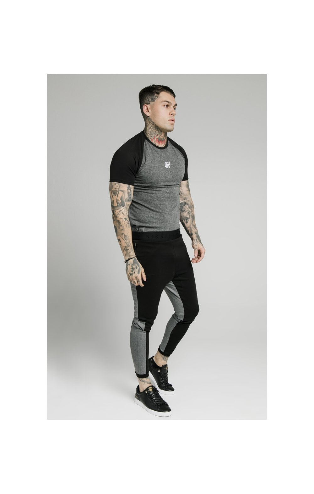 SikSilk Endurance Gym Tee - Black & Grey (4)