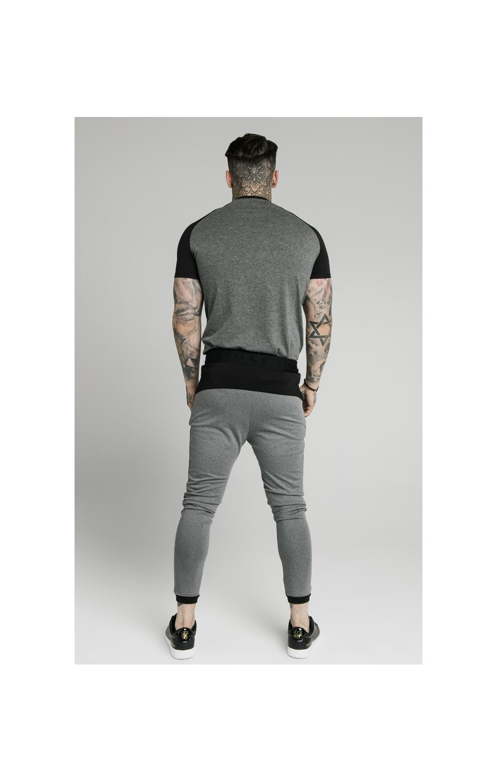 SikSilk Endurance Gym Tee - Black & Grey (5)