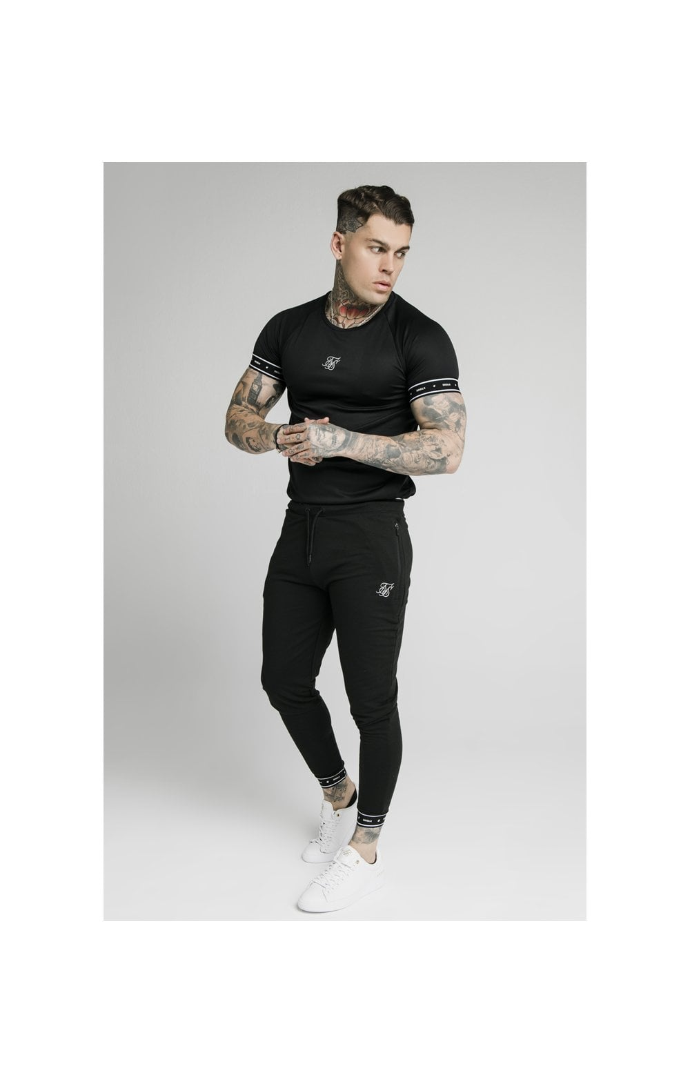 SikSilk Active Tech Tee - Black (2)