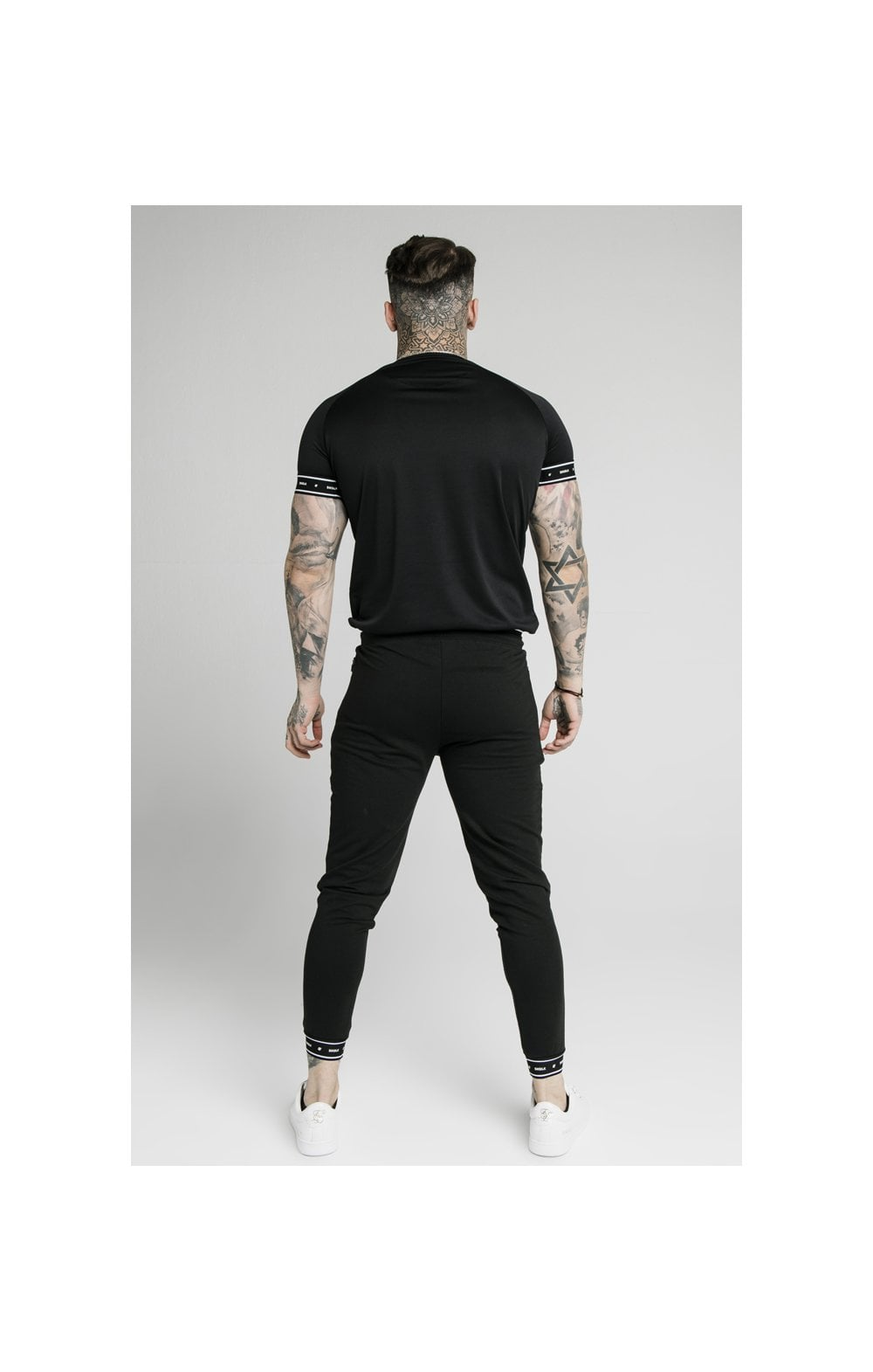 SikSilk Active Tech Tee - Black (4)