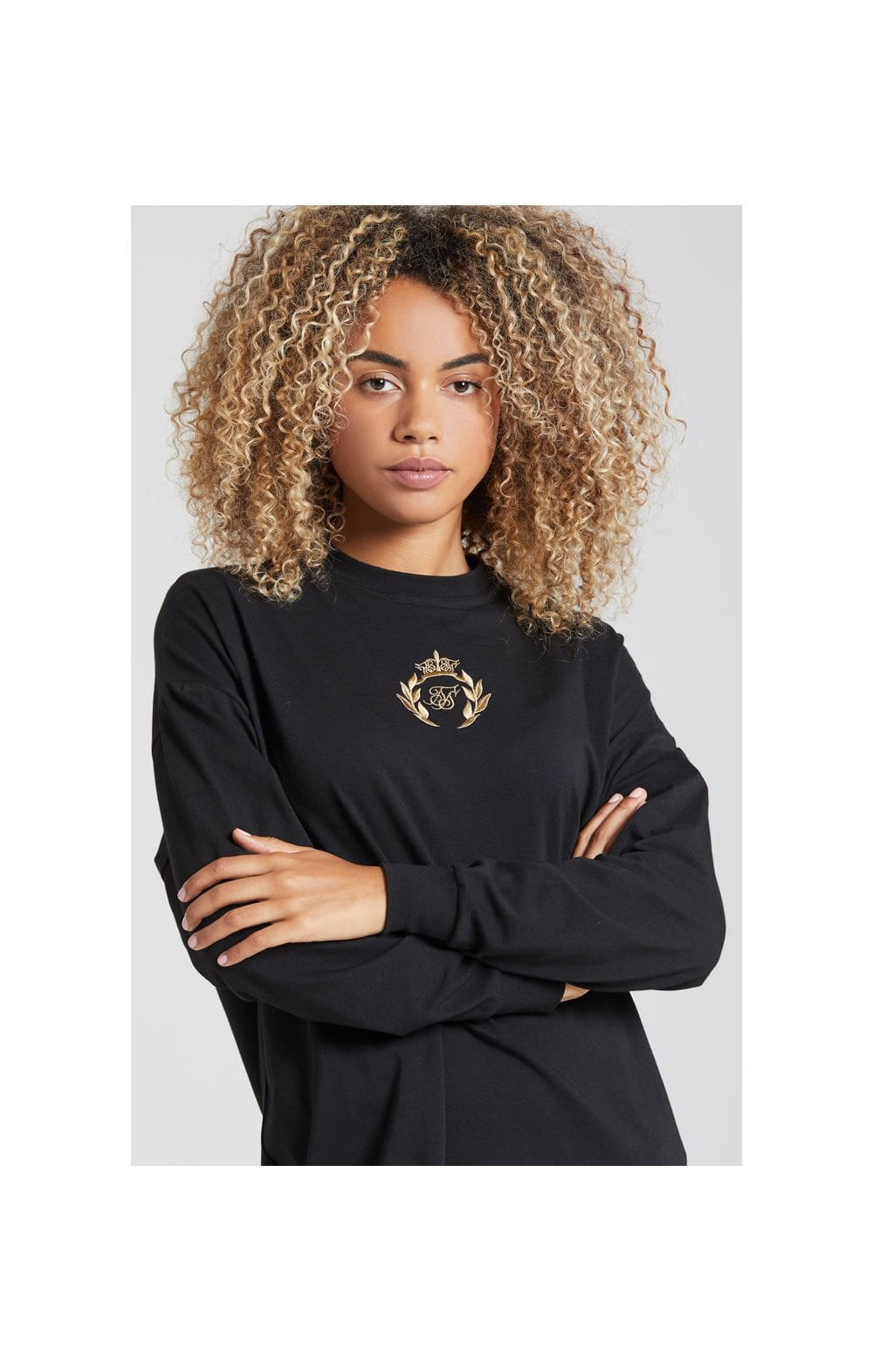 SikSilk Prestige Tshirt Dress - Black (1)