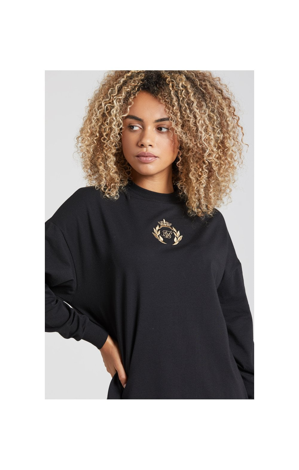 SikSilk Prestige Tshirt Dress - Black (2)