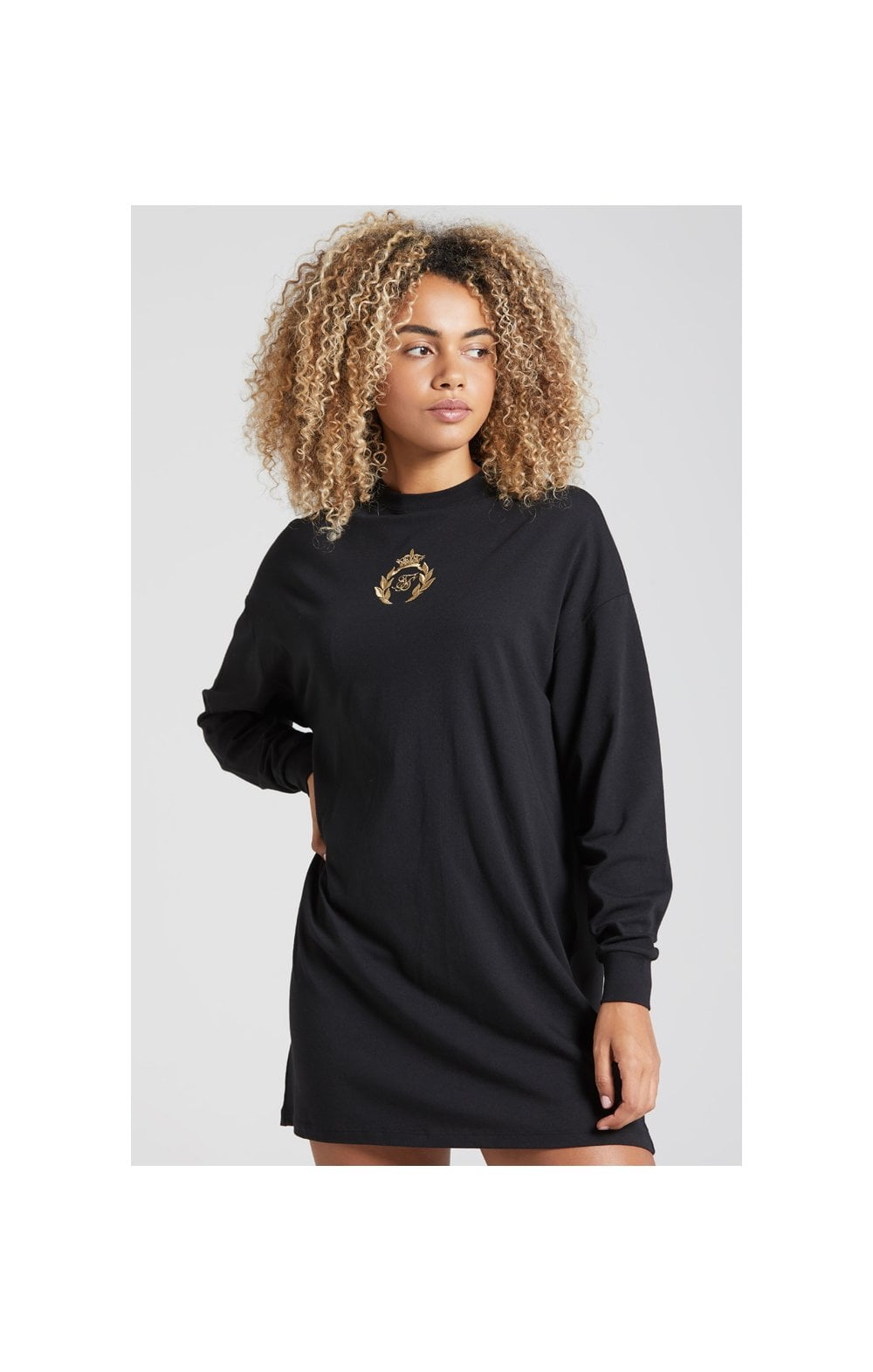 SikSilk Prestige Tshirt Dress - Black (3)