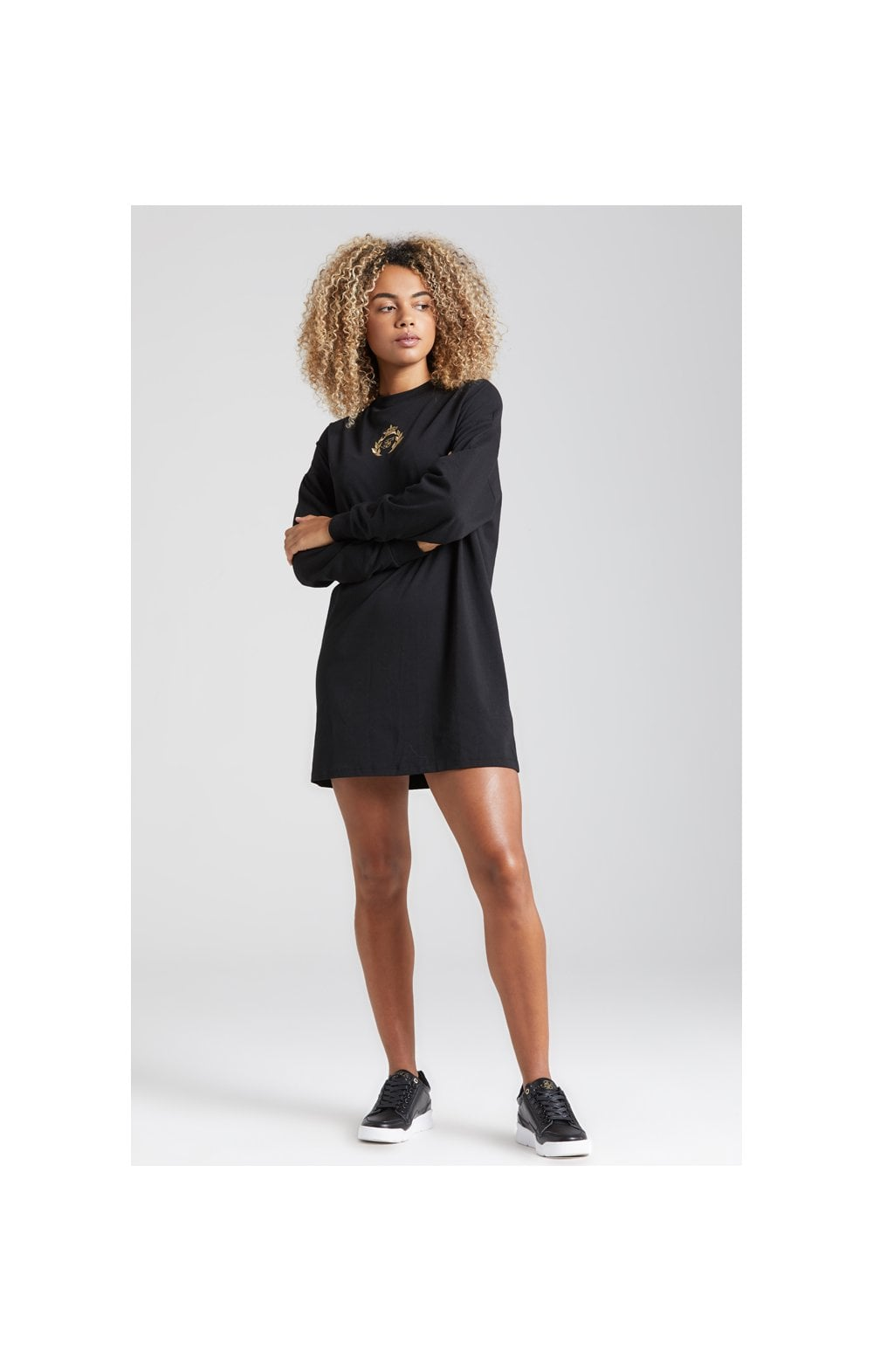 SikSilk Prestige Tshirt Dress - Black (4)