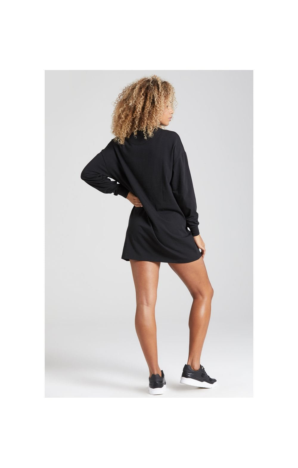 SikSilk Prestige Tshirt Dress - Black (6)