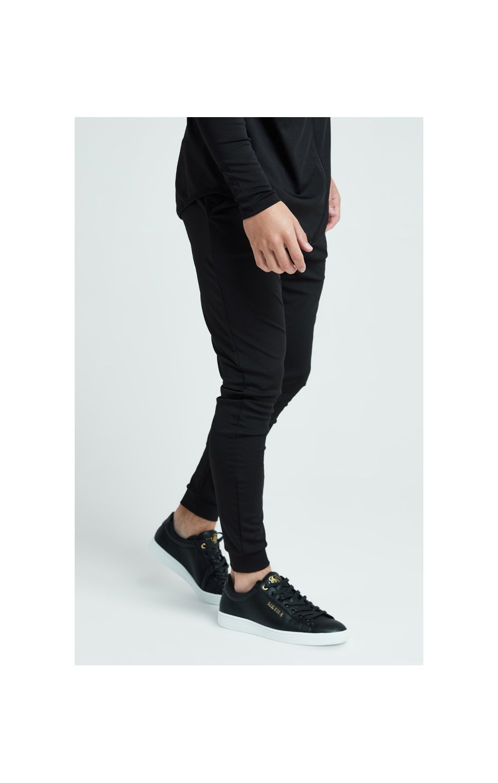 Illusive London Core Fitted Joggers - Black (3)