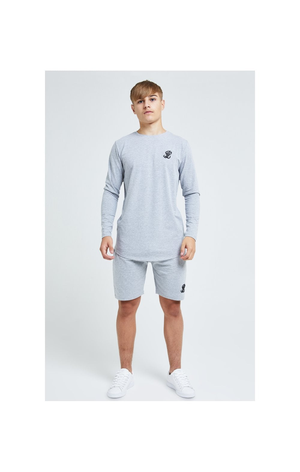 Charger l'image dans la galerie, Illusive London L/S Core Tee - Grey Marl (5)
