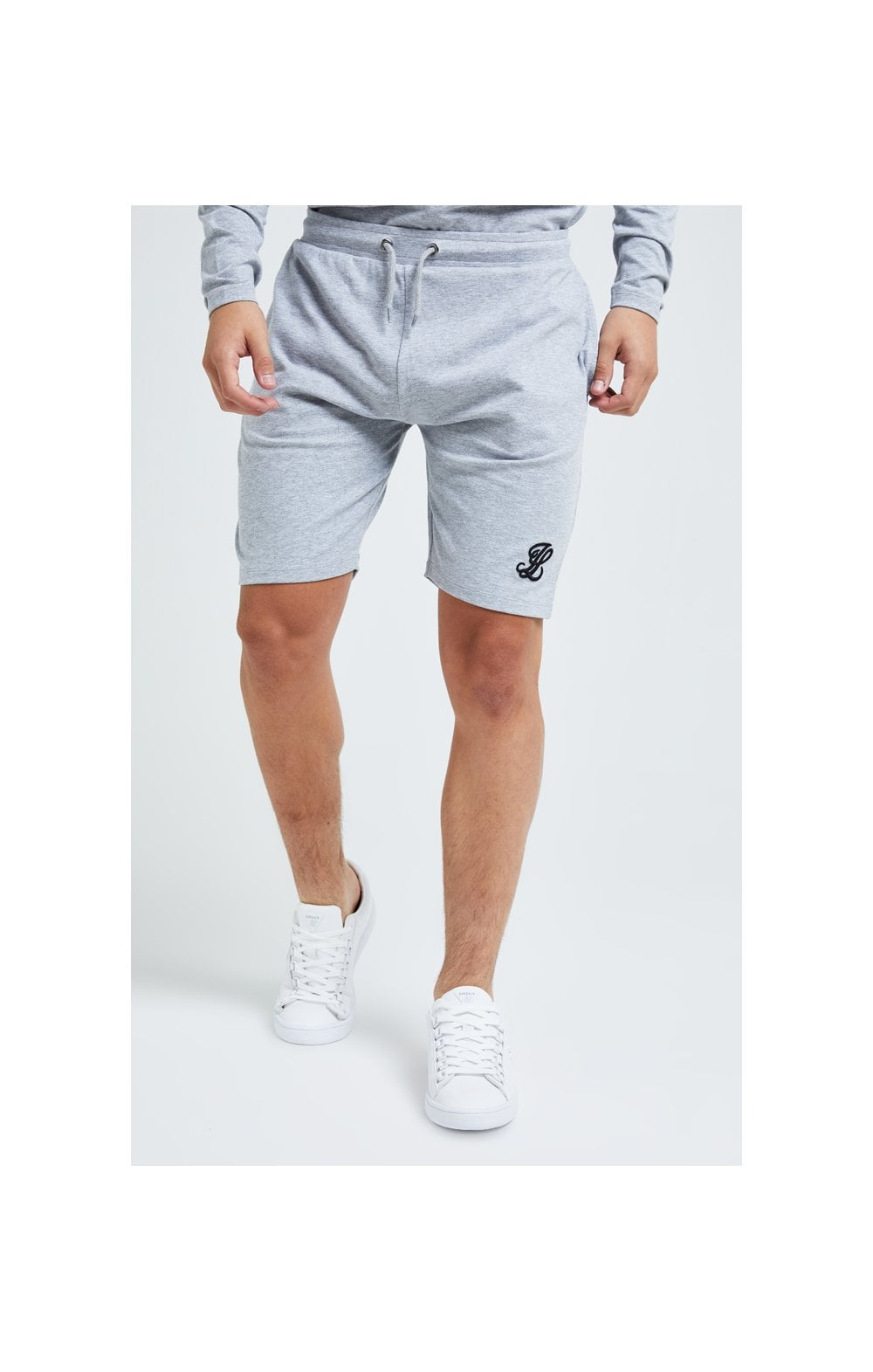 Illusive London Core Jersey Shorts - Grey Marl