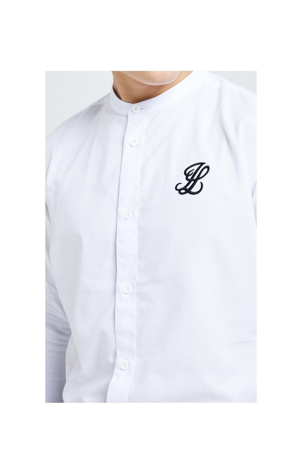 Illusive London Core Grandad Shirt - White (1)