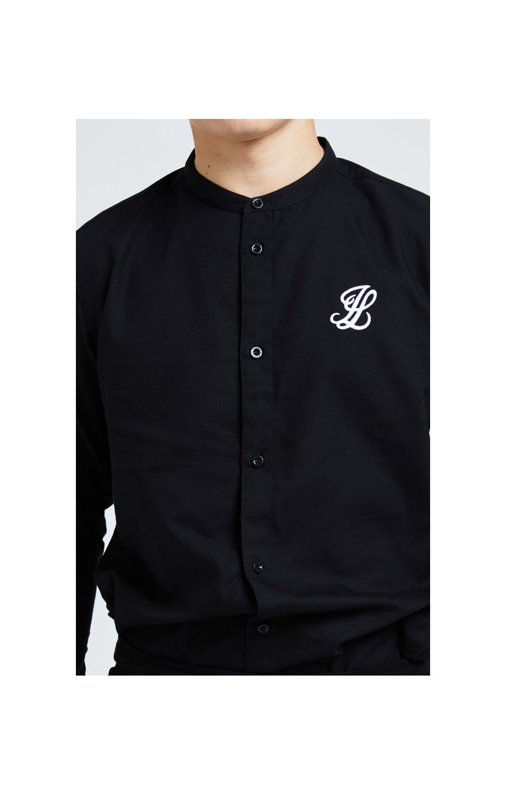 Illusive London Core Grandad Shirt - Black