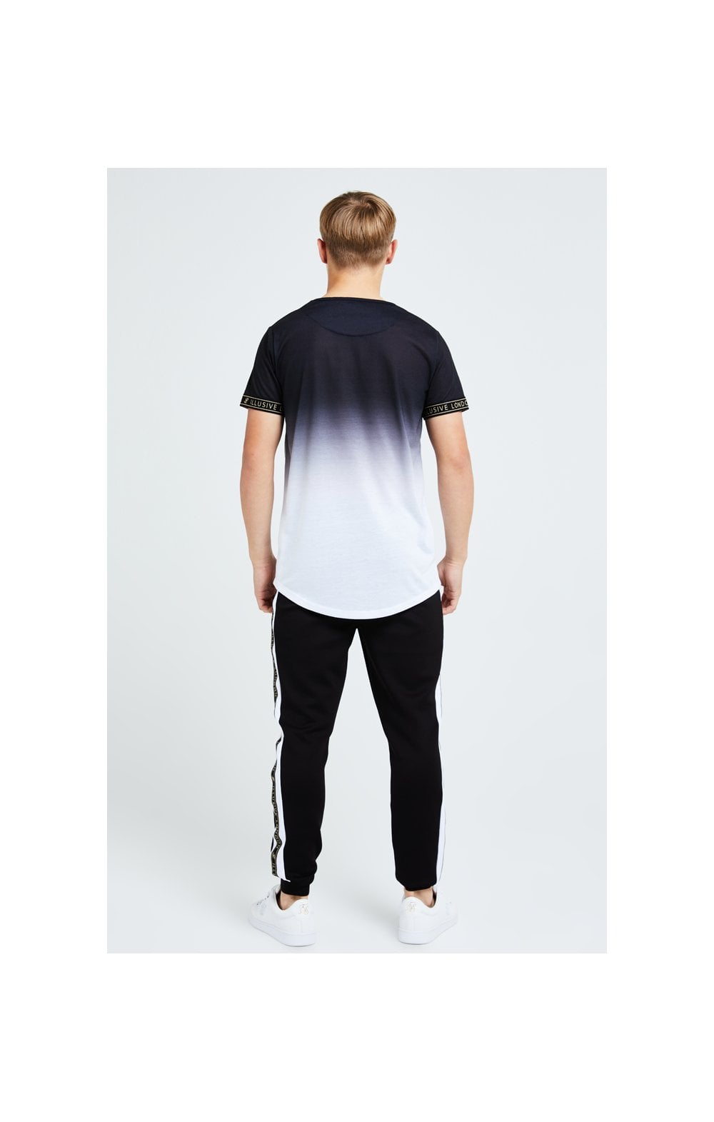 Illusive London Diverge Fade Tech Tee - Black Gold & White (4)