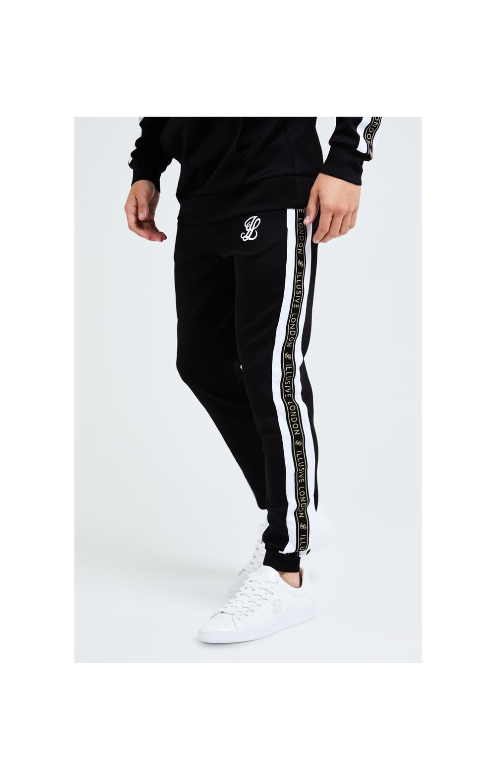 Illusive London Diverge Jogger - Black Gold & White