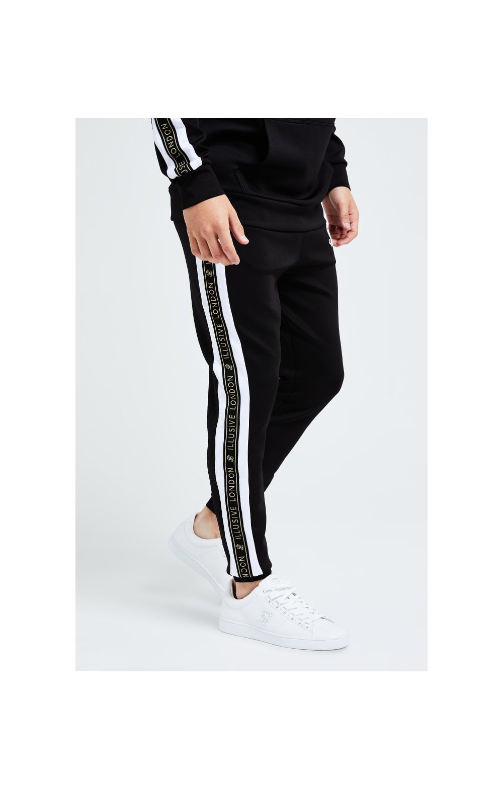 Illusive London Diverge Jogger - Black Gold & White (1)