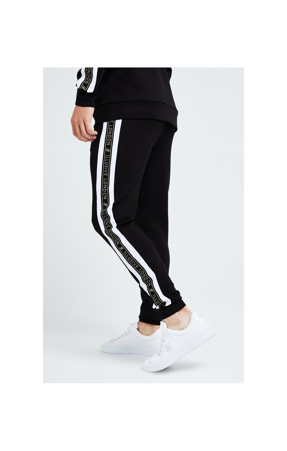 Illusive London Diverge Jogger - Black Gold & White (2)