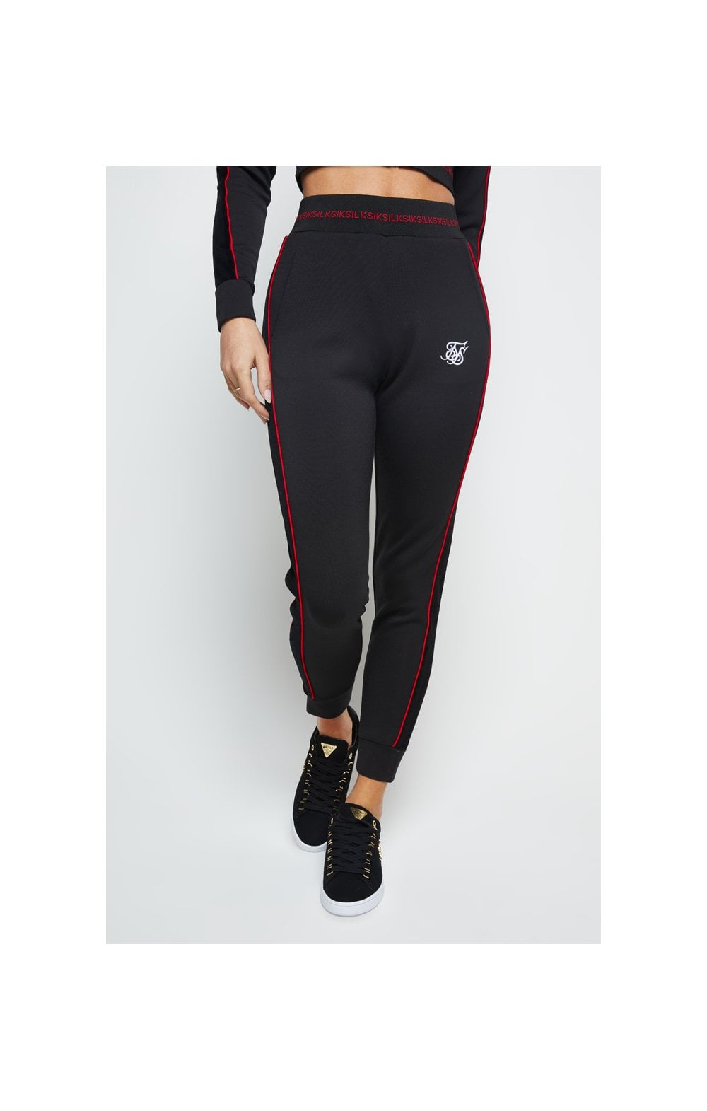 SikSilk Imperial Track Pants - Black (1)