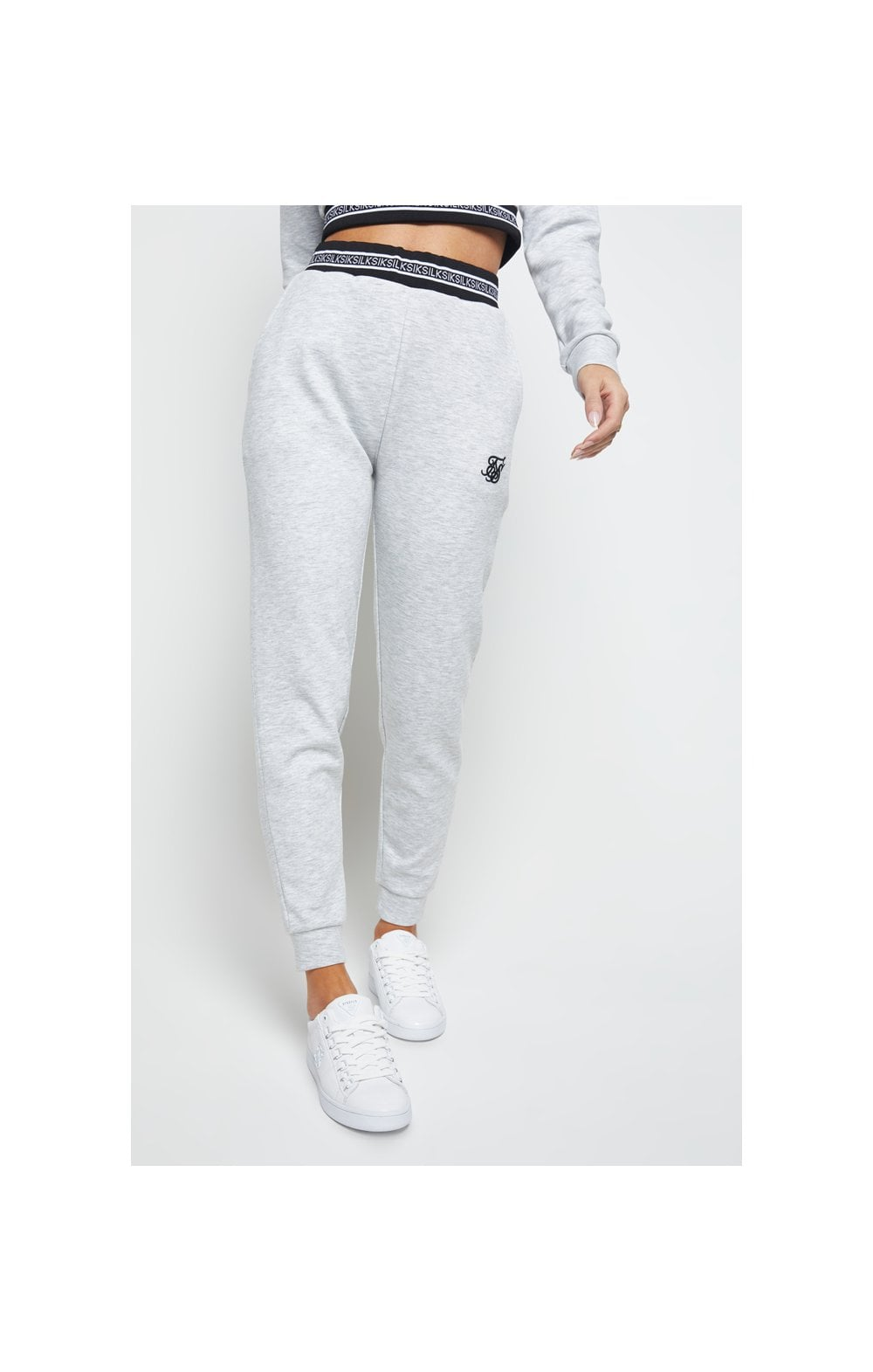 SikSilk Element Track Pants - Grey Marl (1)
